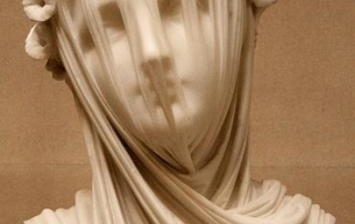 statue with veil